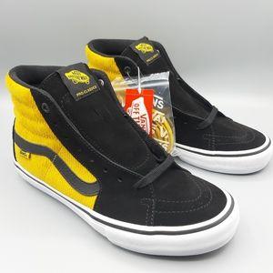 NEW Vans SK8-Hi Top Pro Corduroy Yolk Yellow Black